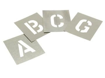 Set of Zinc Stencils - Letters 1in